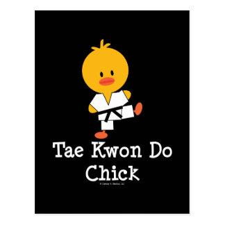 Taekwondo Chick Postcard
