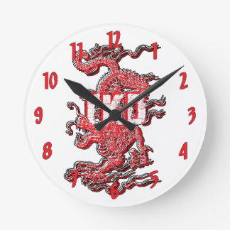 Taekwondo Dragon Round Clock
