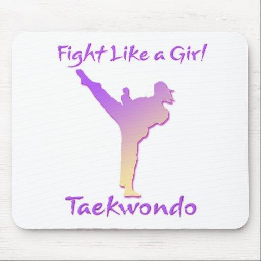 Taekwondo Girl Mousepads