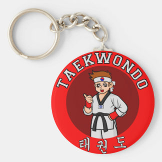 taekwondo guy badge 1 key ring