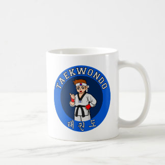 taekwondo guy badge coffee mug