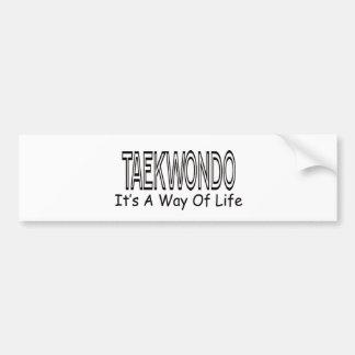 Taekwondo It s A Way Of Life Bumper Sticker