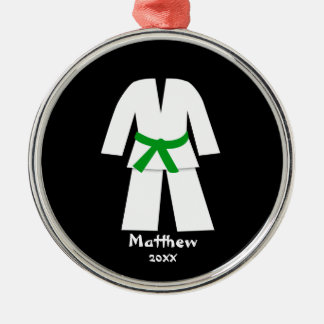 Taekwondo Karate Green Belt Personalized Christmas Ornament