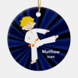 Taekwondo Karate Orange Belt Boy Personalised