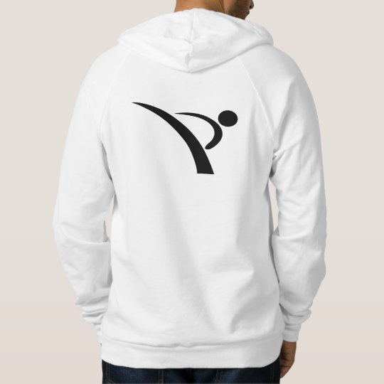Taekwondo Kick Symbol Hoodie