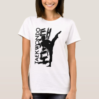 Taekwondo Kicking Girl - Korean Martial Art T-Shirt