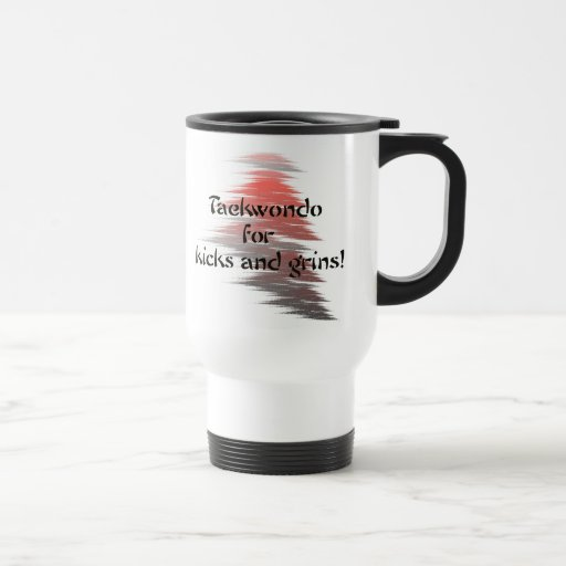Taekwondo Kicks and Grins Travel Coffee Mug