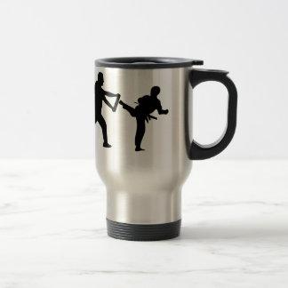 taekwondo stainless steel travel mug