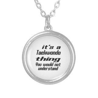Taekwondo Thing Designs Round Pendant Necklace