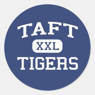 Taft Tigers Middle Brighton Massachusetts Classic Round Sticker