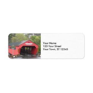 Taftsville Covered Bridge, Vermont Return Address Label