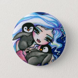 """Tag Alongs"" Mermaid Baby Penguins Fantasy Fairy 6 Cm Round Badge"