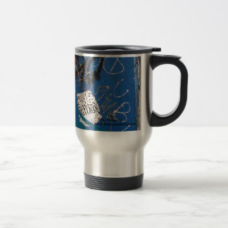 """Tag"" Graffiti Stainless Steel Travel Mug"