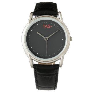 Tag Process Service Custom Black Leather Watch