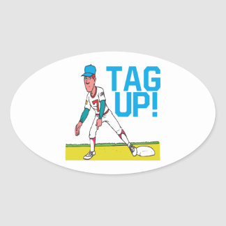 Tag Up Oval Sticker