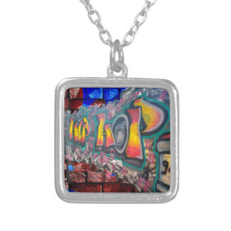 Tag Wall Silver Plated Necklace