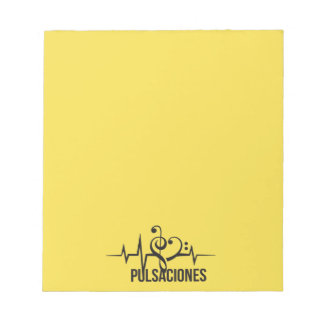 Tag Yellow Pulsations Notepad