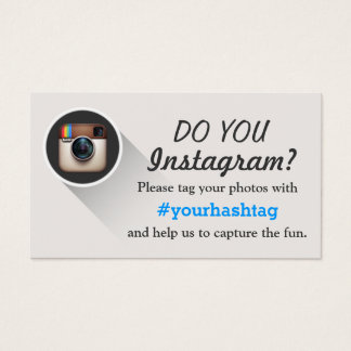 Tag Your Instagram Photos Hashtag Business Cards