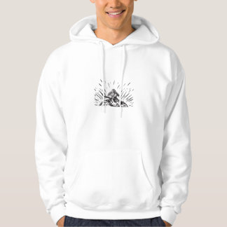 Tagaloa Releasing Bird Plover Earth Woodcut Hoodie