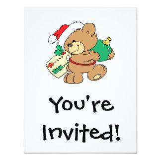 tagged for christmas teddy bear custom announcement