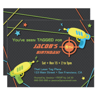 Tagged for Laser Tag Birthday Party Invitations