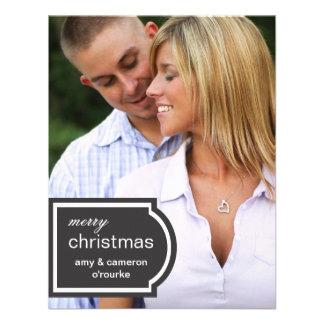 Tagged Photo Christmas Card-black Custom Invite