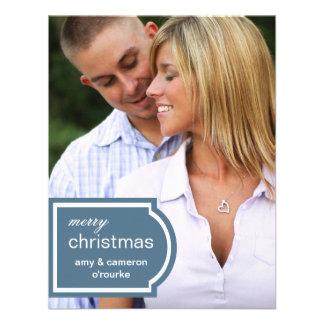 Tagged Photo Christmas Card-blue Custom Invitations