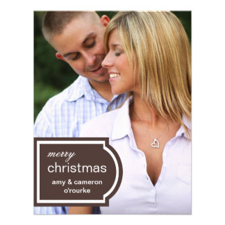 Tagged Photo Christmas Card-chocolate Personalized Invitations