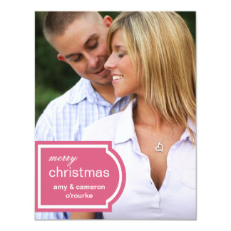 Tagged Photo Christmas Card-honeysuckle 11 Cm X 14 Cm Invitation Card
