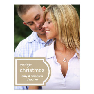 Tagged Photo Christmas Card-khaki Personalized Announcements