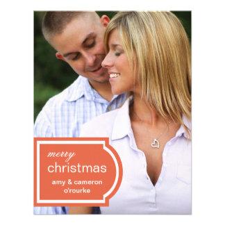 Tagged Photo Christmas Card-orange Personalized Invitations