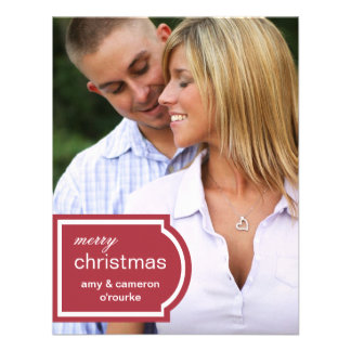 Tagged Photo Christmas Card-red Invitations