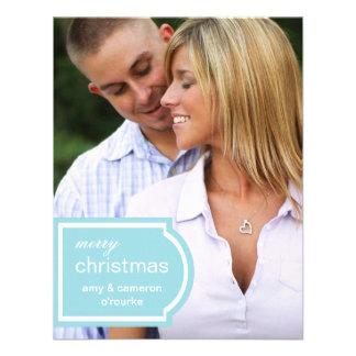 Tagged Photo Christmas Card-sky blue Invitation