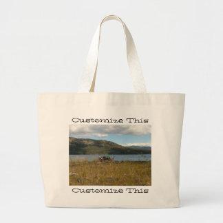 Tagish Lake Vista; Customizable Jumbo Tote Bag