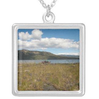 Tagish Lake Vista Square Pendant Necklace