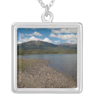 Tagish Shoreline Square Pendant Necklace