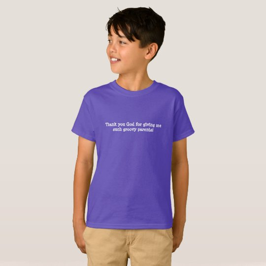 Tagless Purple Groovy Parents T-shirt for Kids