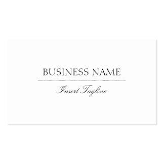 Tagline Elegant Pack Of Standard Business Cards