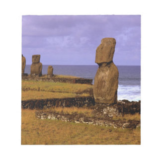 Tahai Platform Moai Statue Abstracts Easter Notepad