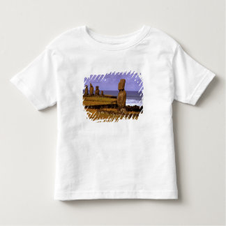 Tahai Platform Moai Statue Abstracts Easter Toddler T-Shirt