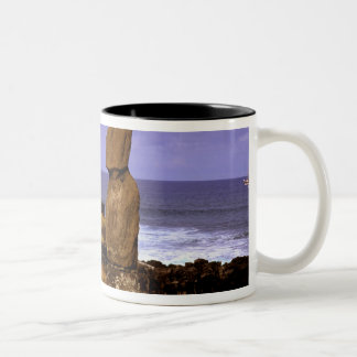 Tahai Platform Moai Statue Abstracts Easter Two-Tone Coffee Mug