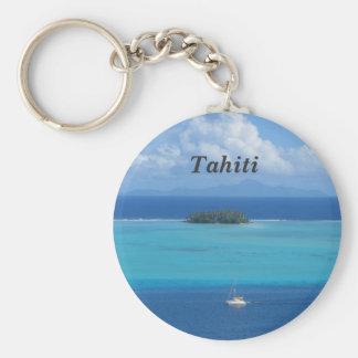 Tahiti Basic Round Button Key Ring