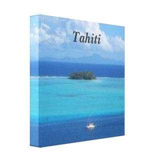 Tahiti Stretched Canvas Print