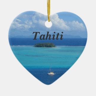 Tahiti Ceramic Heart Decoration