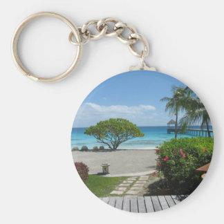 Tahiti Getaway Basic Round Button Key Ring