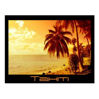 Tahiti sunset postcard