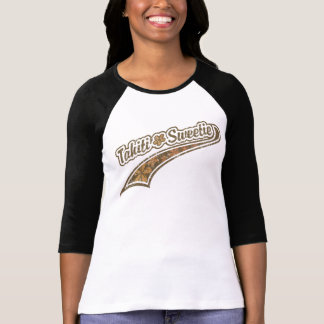 Tahiti Sweetie Baseball Lettering T-Shirt