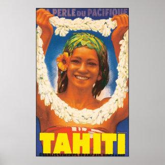Tahiti Vintage Travel Poster
