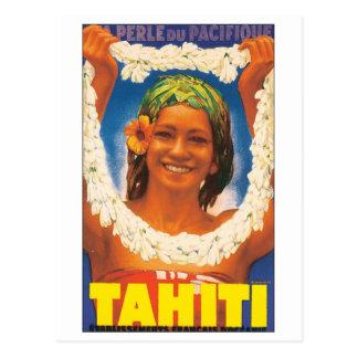 Tahiti Vintage Travel Poster Post Card
