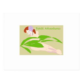 Tahiti Woman Postcard